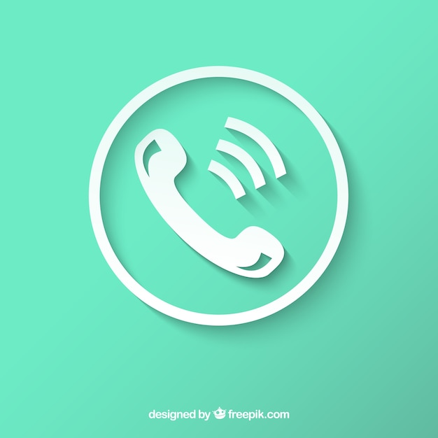 白い電話アイコン 無料ベクター