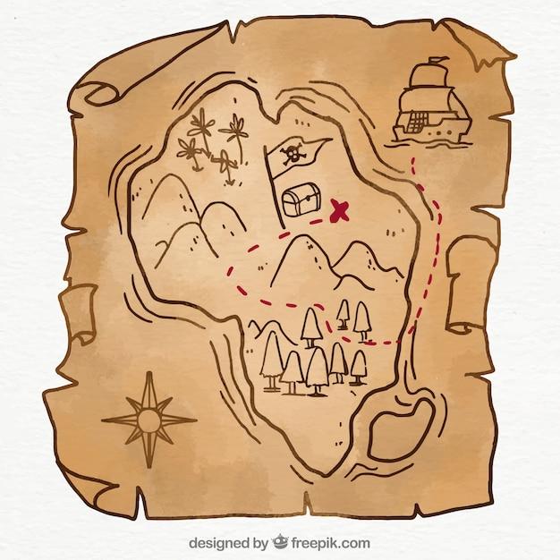 Рисунки карты сокровищ