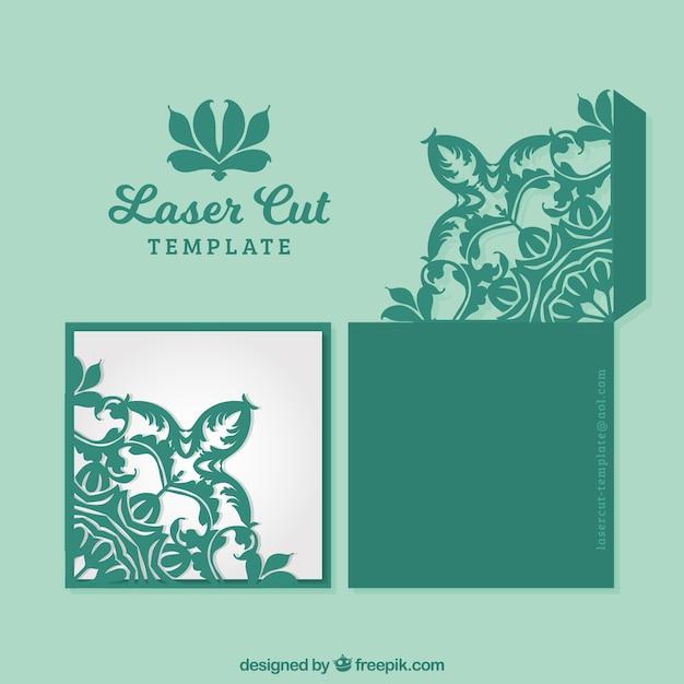 緑の装飾カード 無料ベクター
