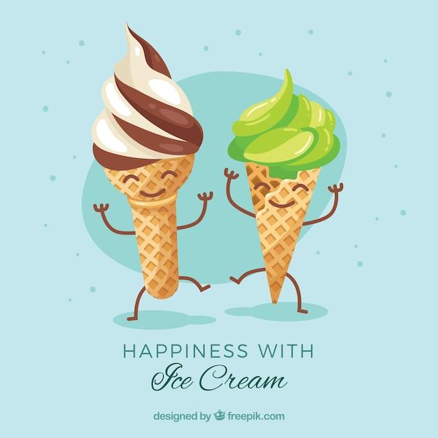 Детьми новый, картинки смешные мороженое