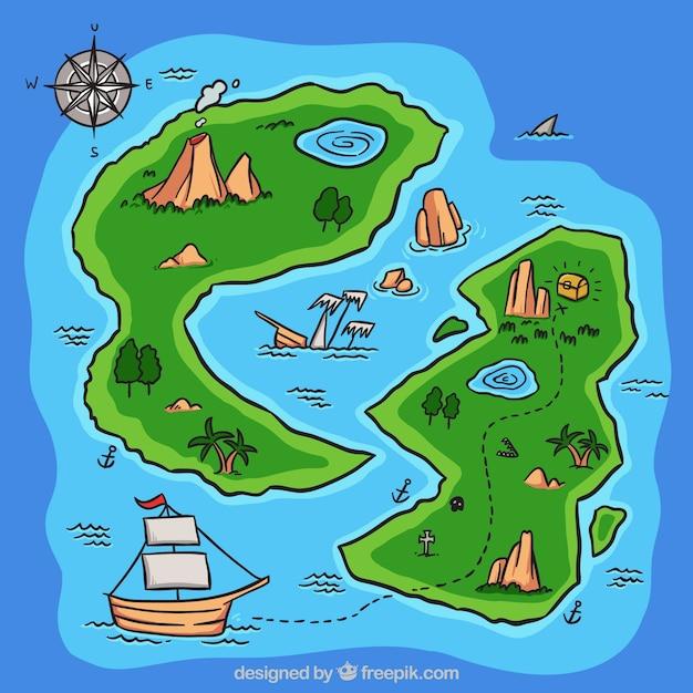 Карты островов картинки