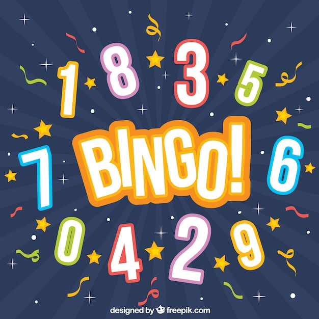 Бинго фон с номерами Бесплатные векторы