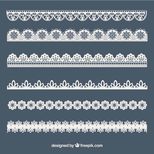 Коллекция кружевных украшений Бесплатные векторы