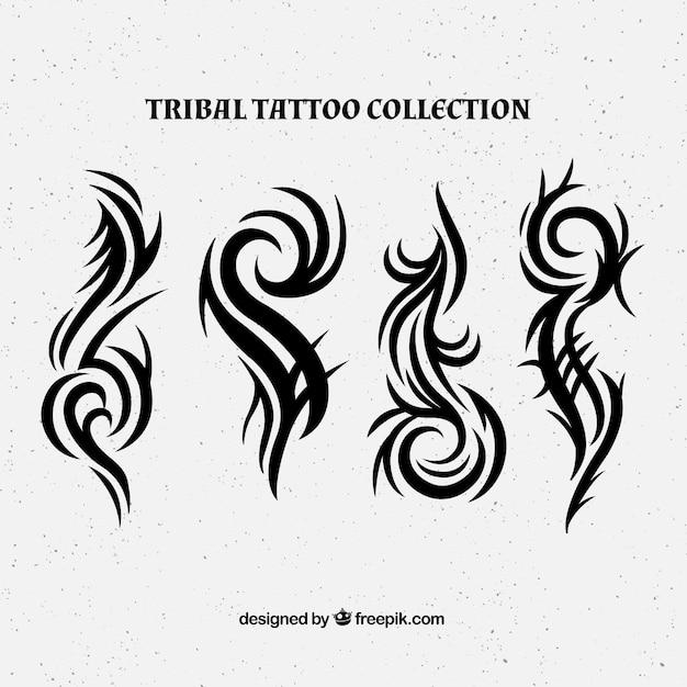 新しいスタイルの部族の入れ墨のコレクション 無料ベクター