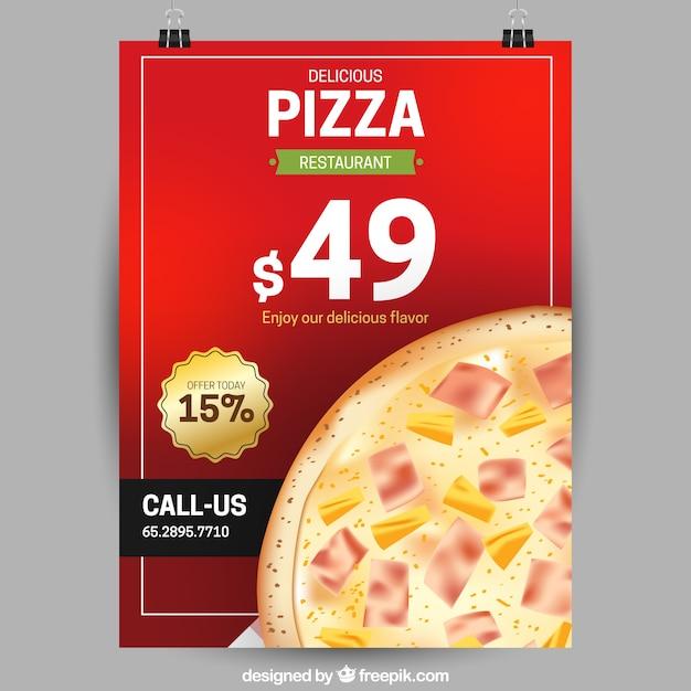 Специальное предложение для пиццы Бесплатные векторы
