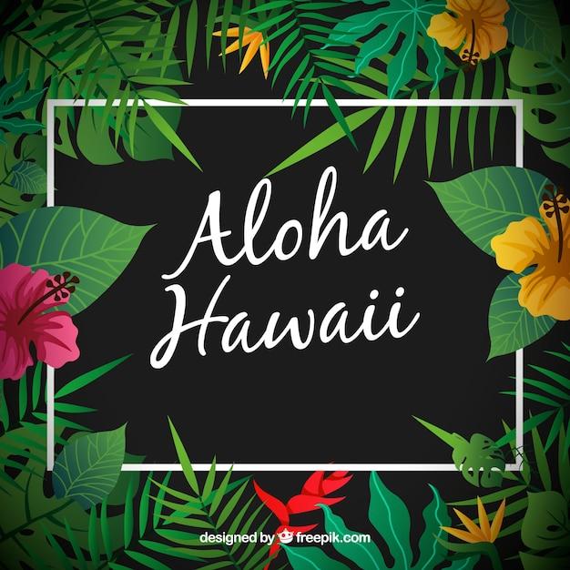 アロハハワイの背景 無料ベクター