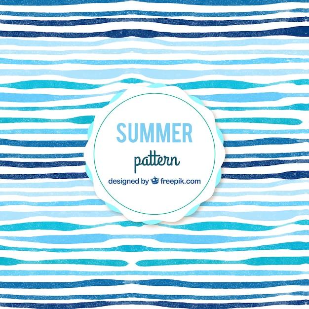 水彩画の抽象的な夏のパターンの背景 無料ベクター