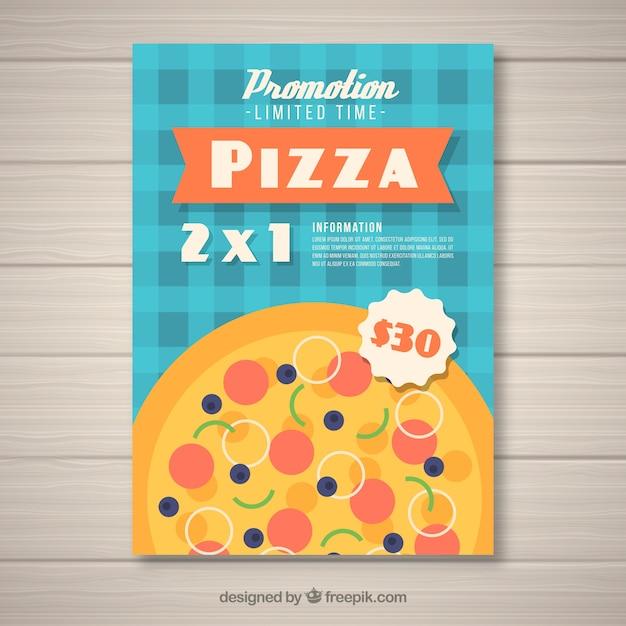Брошюра предлагает пиццу Бесплатные векторы