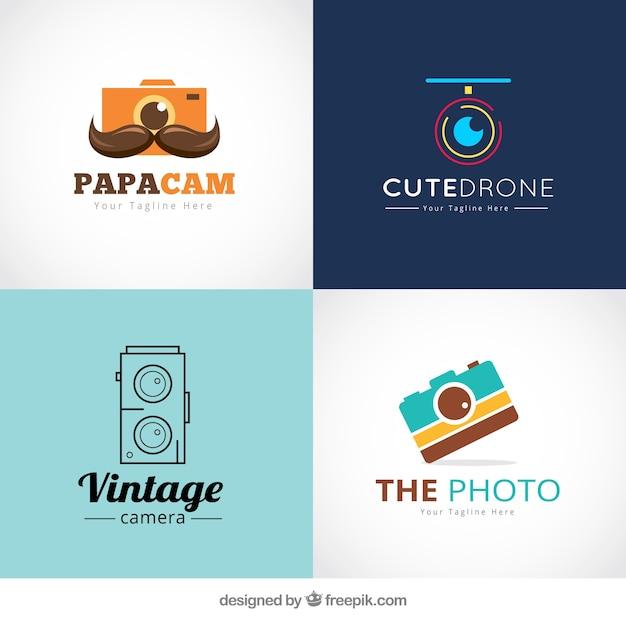 写真店のロゴ 無料ベクター