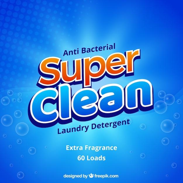 洗剤の抽象的な青い背景 無料ベクター