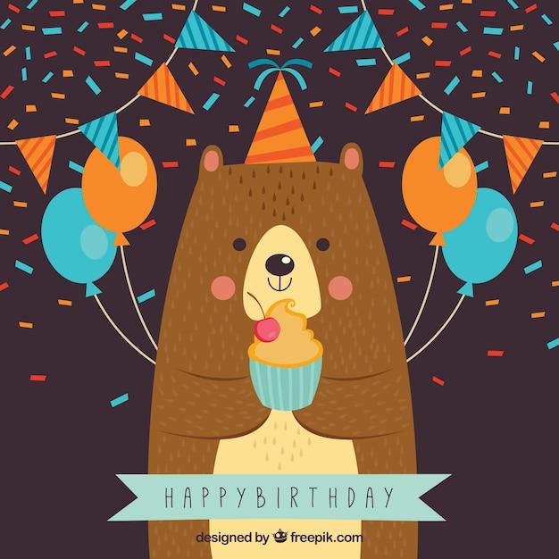 Картинки открытки с днем рождения медведь, сумерки анимации
