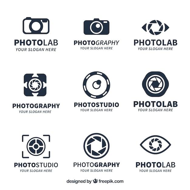 クリエイティブカメラロゴコレクション 無料ベクター