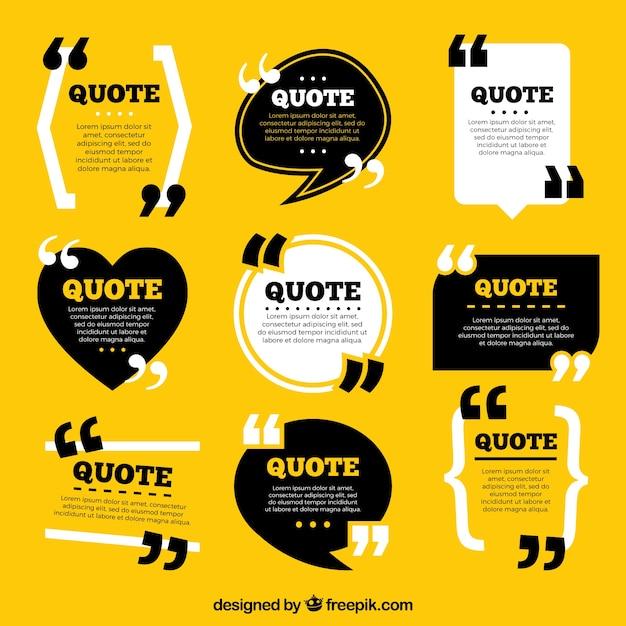 Коллекция шаблонов цитат из винтажного стиля Бесплатные векторы
