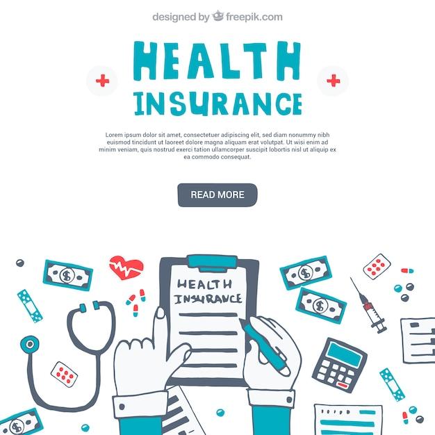 楽しい健康保険の組成 無料ベクター