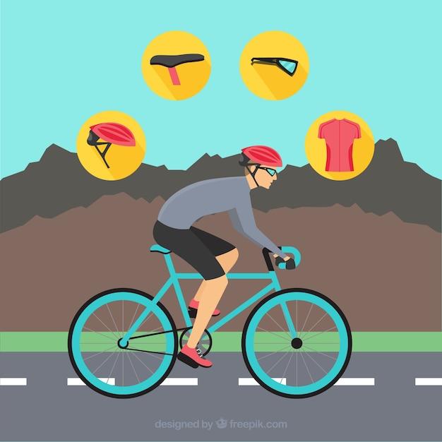 Горные велосипедные вектор упаковке Бесплатные векторы