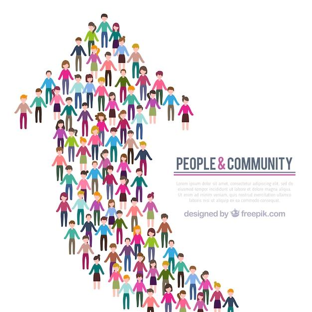 人々のコミュニティの背景 無料ベクター