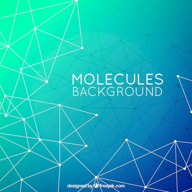 分子のポリゴンバックグラウンド 無料ベクター