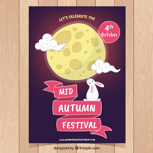 Рисованный плакат для восточного фестиваля Бесплатные векторы