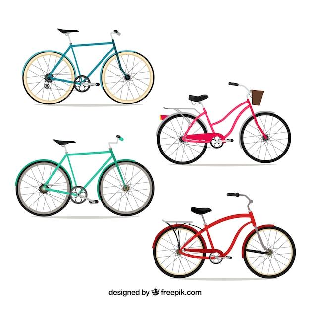 フラットデザインの自転車パック 無料ベクター
