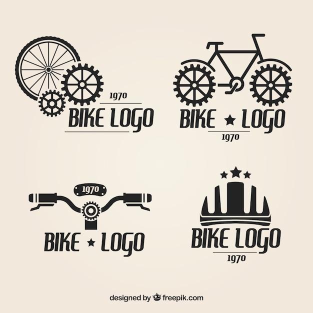 自転車のロゴセット 無料ベクター