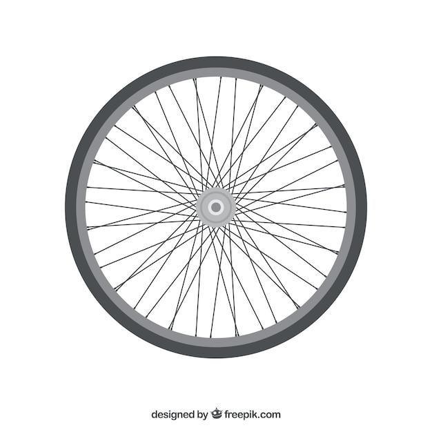自転車のホイールとスポーク。 無料ベクター