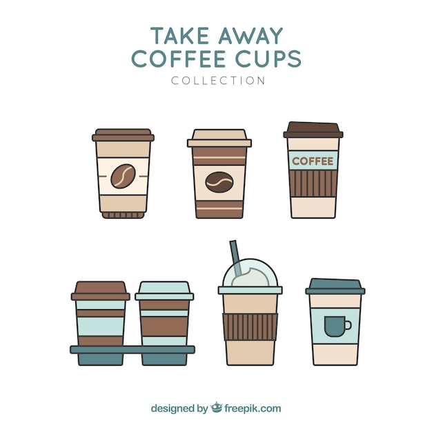 持ち帰り用のコーヒーカップ 無料ベクター