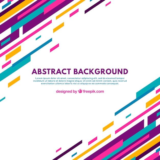 Абстрактный фон с красочными линиями Бесплатные векторы
