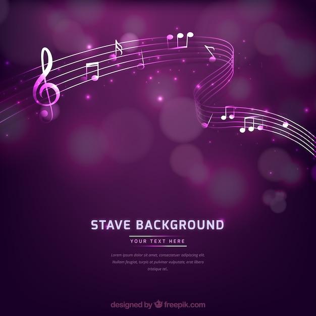 Фиолетовый музыкальный фон Бесплатные векторы