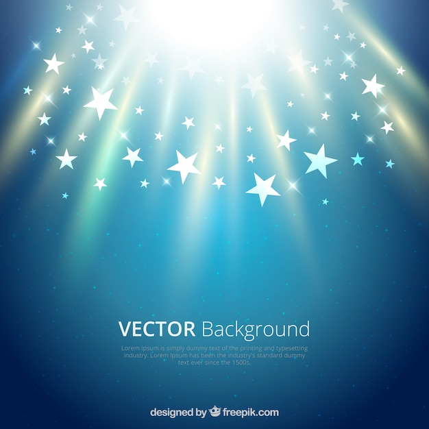 明るい星とベクトルの背景 無料ベクター
