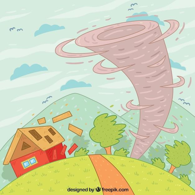 Рисунки торнадо детские