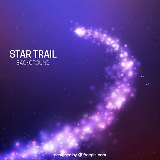 Блестящий фиолетовый звездный фон Бесплатные векторы