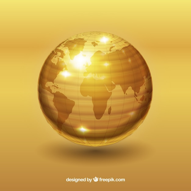 大西洋を望む黄金の世界 無料ベクター