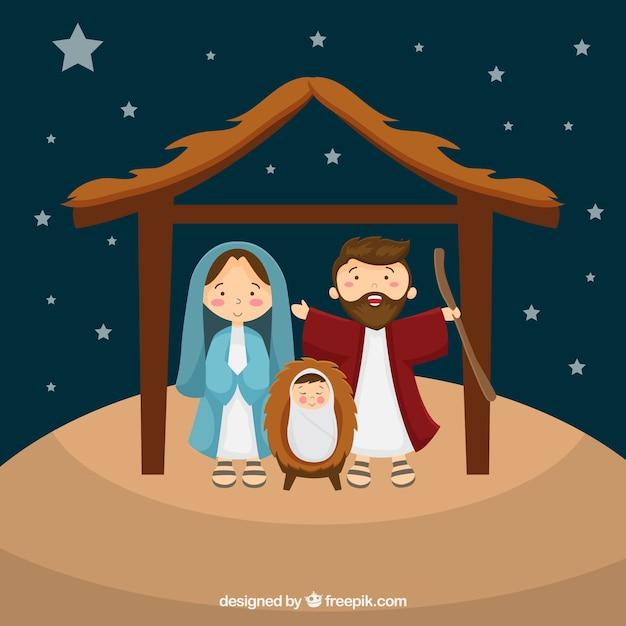 Фон сцены рождества Бесплатные векторы