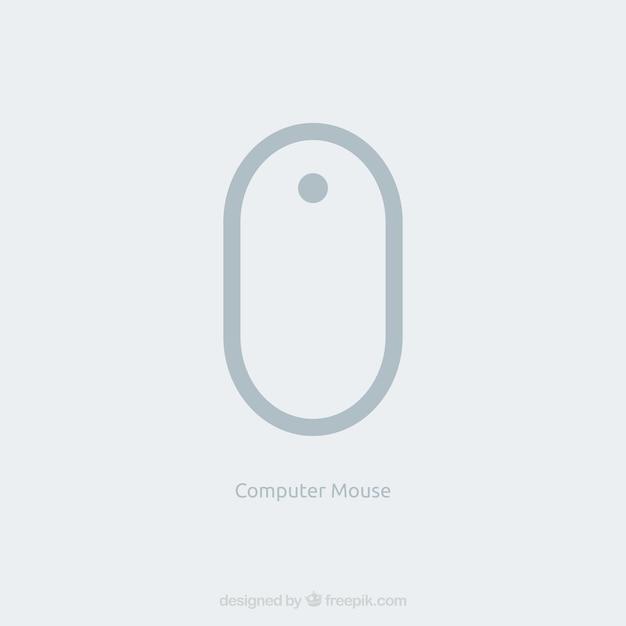 フラットコンピュータマウス 無料ベクター