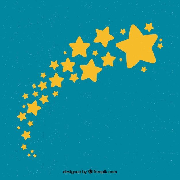 かわいい星の背景 無料ベクター