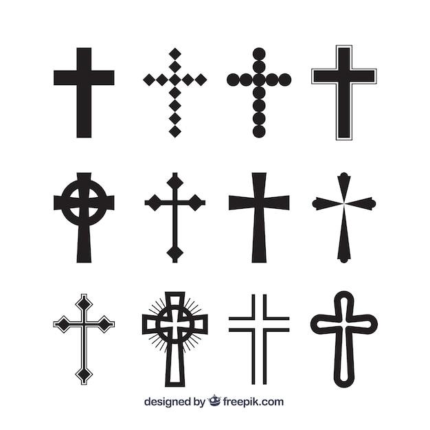 シルエットキリスト教の十字架 無料ベクター