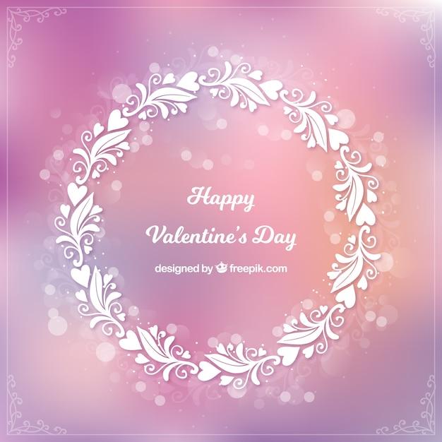 Размытый фон дня валентина Бесплатные векторы