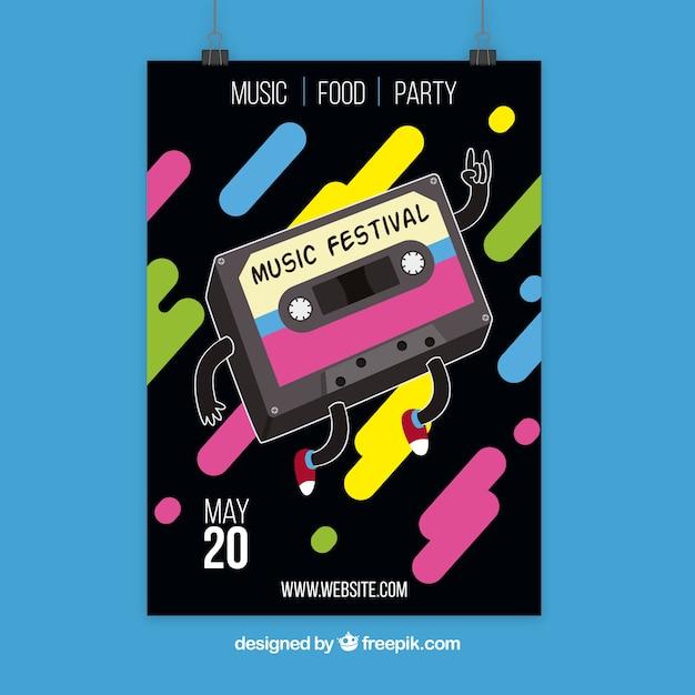 Дизайн плакатов с магнитной лентой Бесплатные векторы