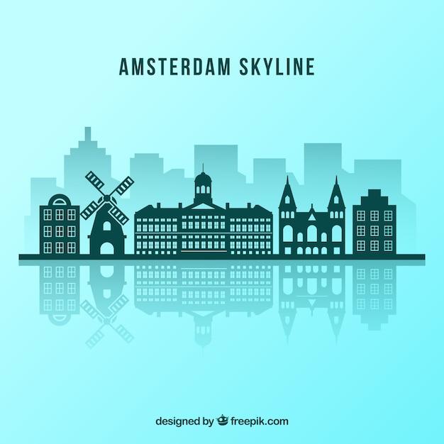 Амстердамский горизонт Бесплатные векторы