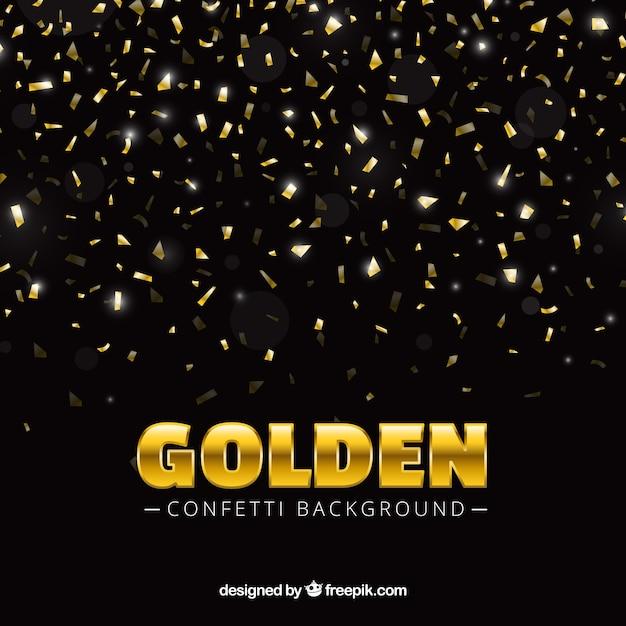 Фон конфетти в золотом стиле Бесплатные векторы