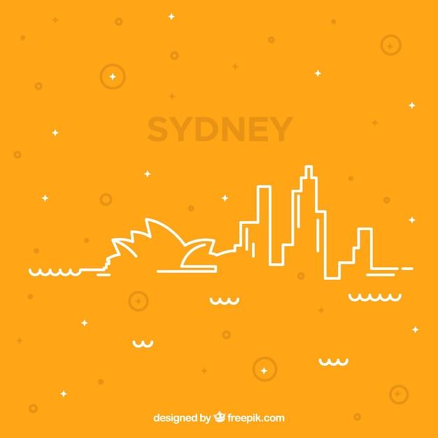 シドニーのスカイライン 無料ベクター