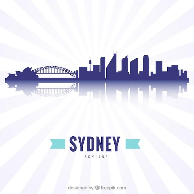シドニーの近代的なスカイライン 無料ベクター