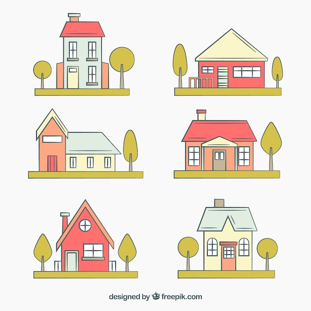 плоские домики картинки подходами