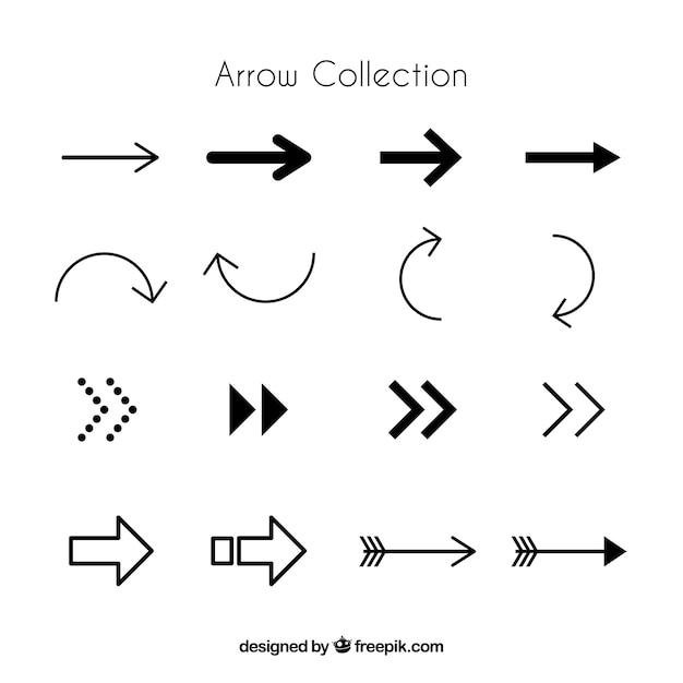 Набор инфографических стрел Бесплатные векторы