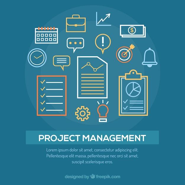 Концепция управления проектами Бесплатные векторы