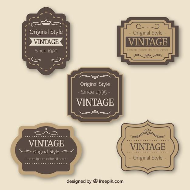 ヴィンテージバッジコレクション 無料ベクター