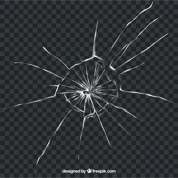 Сломанное стекло в реалистичном стиле без фона Бесплатные векторы