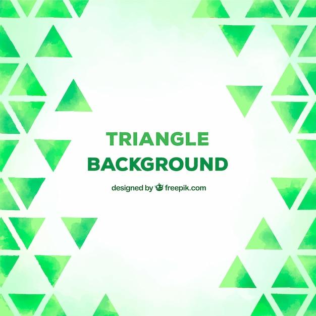 緑色の三角形の背景 無料ベクター
