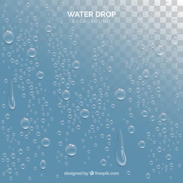 Фон капель воды в реалистичном стиле Бесплатные векторы