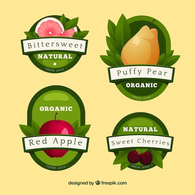 素敵な有機食品の組成 無料ベクター